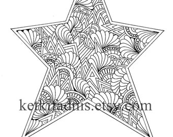 Christmas Tree Coloring Page Instant Pdf Download Digital Etsy