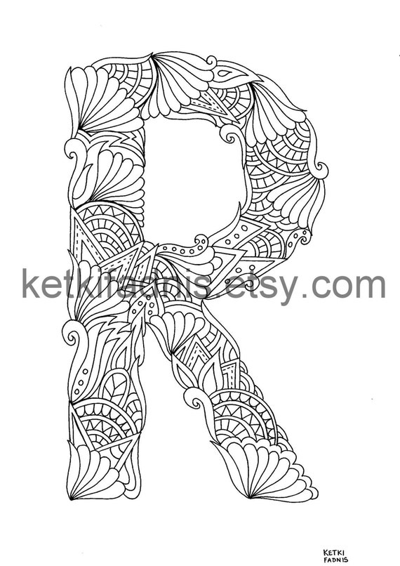 Letter R Coloring Page Instant Pdf Download Alphabet Etsy