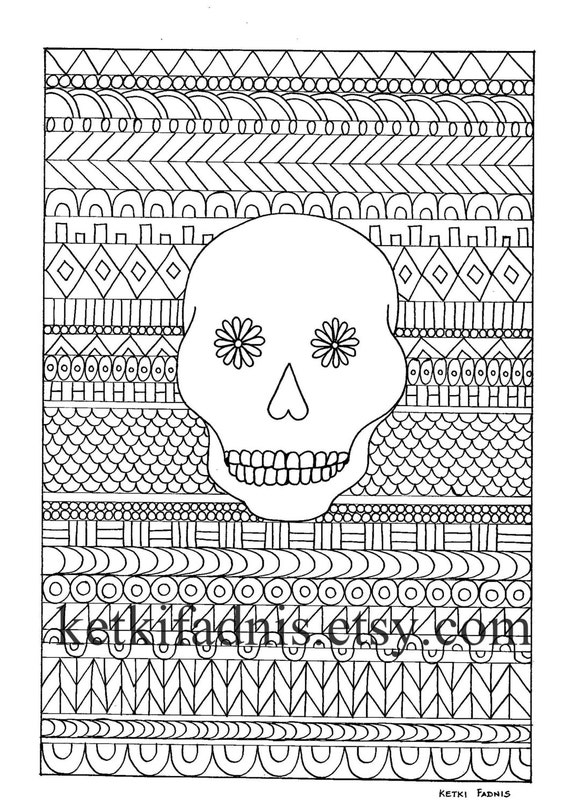 Candy Skull Coloring Pages