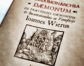 Pseudo monarchia Daemonum -  Joannes Weier - Riproduzione fatta a mano, edizione del 1583