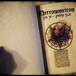 NECRONOMICON - Cthulhu - Medieval book of the damned. Completly handmade with the colored illustration of François Launet - H.P. Lovecraft