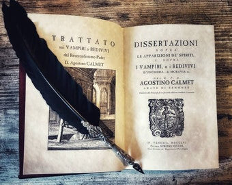 Dissertations about the Vampires and Spirits - A. Calmet, venetian edition 1756
