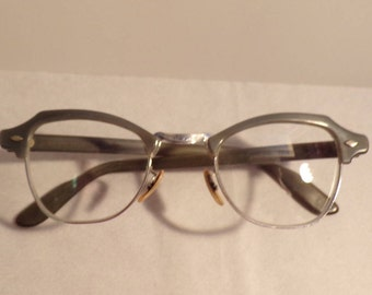 Vintage  Gray Eye Glasses - Bausch & Lomb 1950's