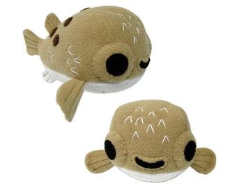 Pufferfish Plush Sewing Pattern - PDF