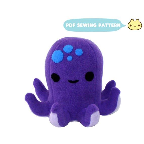 Octopus Plush Pattern Octopus Sewing Pattern Plush Octopus   Etsy