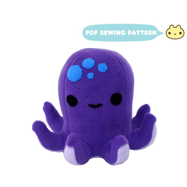 Octopus Plush Pattern Octopus Sewing Pattern Plush Octopus image 0