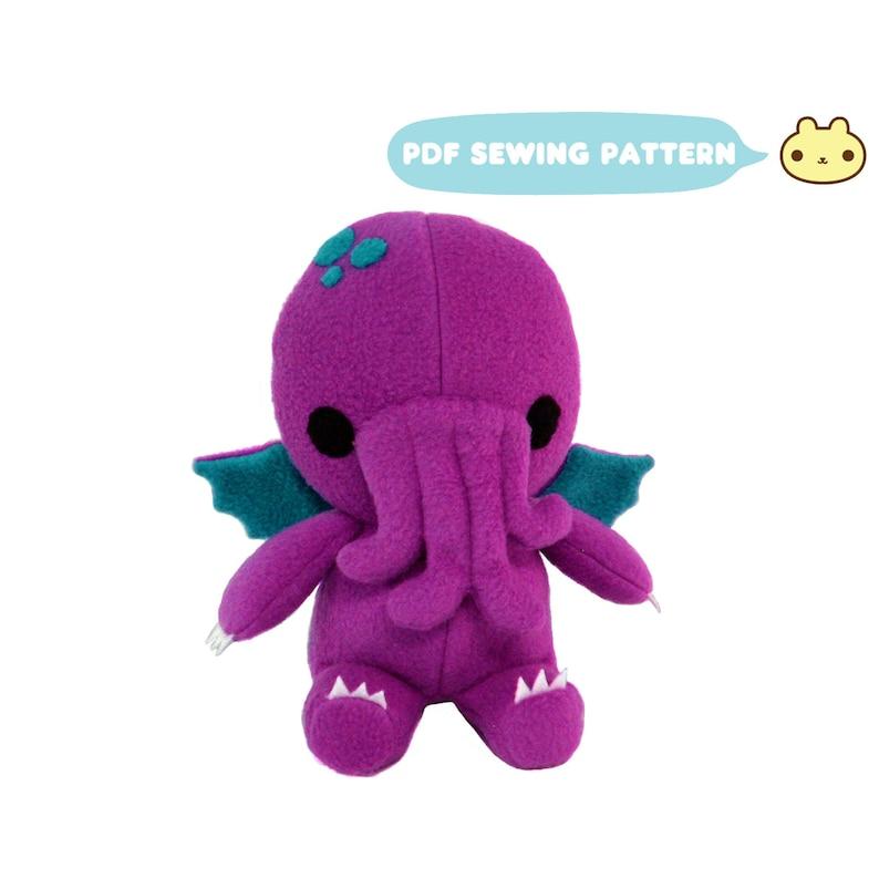 Monster Sewing Pattern Kid Sewing Pattern Plush Toy PDF image 0