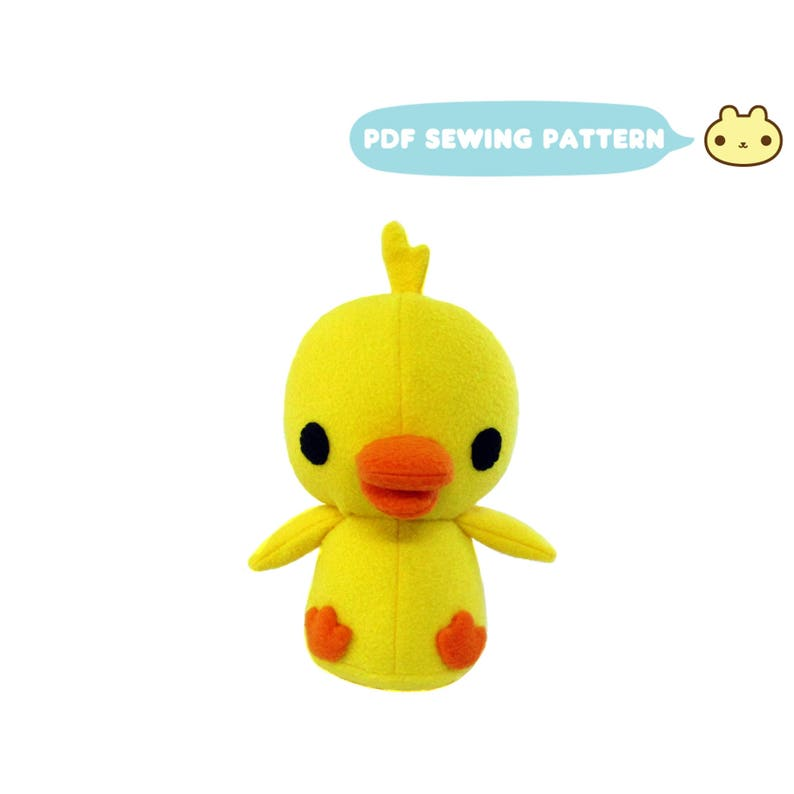 Plush Duck Pattern Duck Plush Sewing Pattern Stuffed Duck image 0
