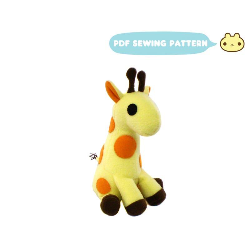 Plush Sewing Pattern Giraffe Plush Pattern Toy Giraffe image 0