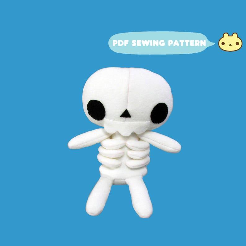 Skeleton Plush Pattern Skull Monster Sewing Goth Pattern image 0