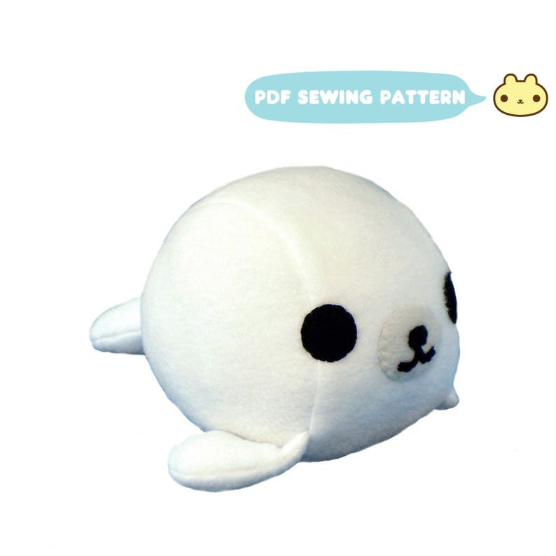 Plush Toy Pattern Baby Seal Aquatic Sewing Pattern DIY Baby image 0