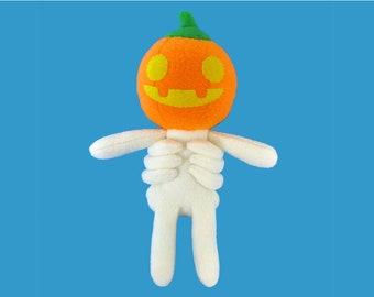 Pumpkin Head Plush Toy Pattern - Instant Download