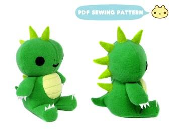 Dragon Toy Pattern, Stuffed Dragon Pattern, ePattern PDF Toy, diy Fun Sewing Pattern, Dragon Sewing Pattern, Stuffed Dragon, Dragon Toy PDF