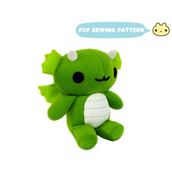 Chibi Plush Dragon Pattern Dragon Toy Sewing Pattern Goth