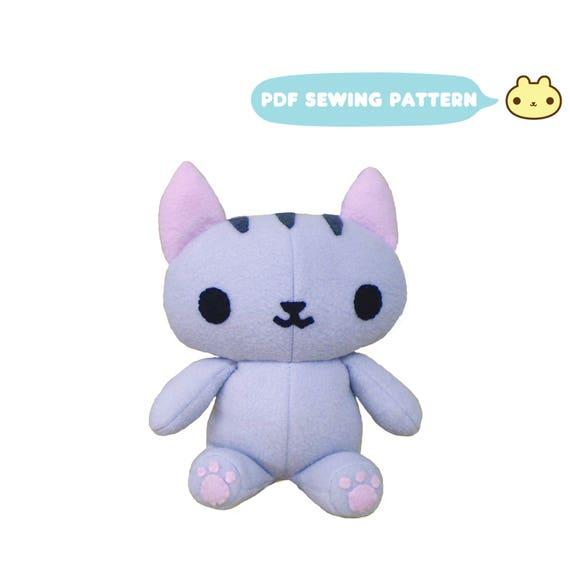 Cat Stuffed Animal Sewing Kitty Stuffed Animal Pattern Cat Etsy
