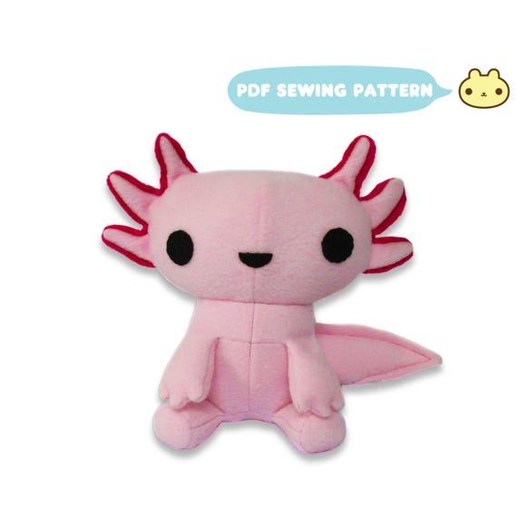 Axolotl Plush Toy Pattern Plush Mexican Walking Fish Kawaii | Etsy