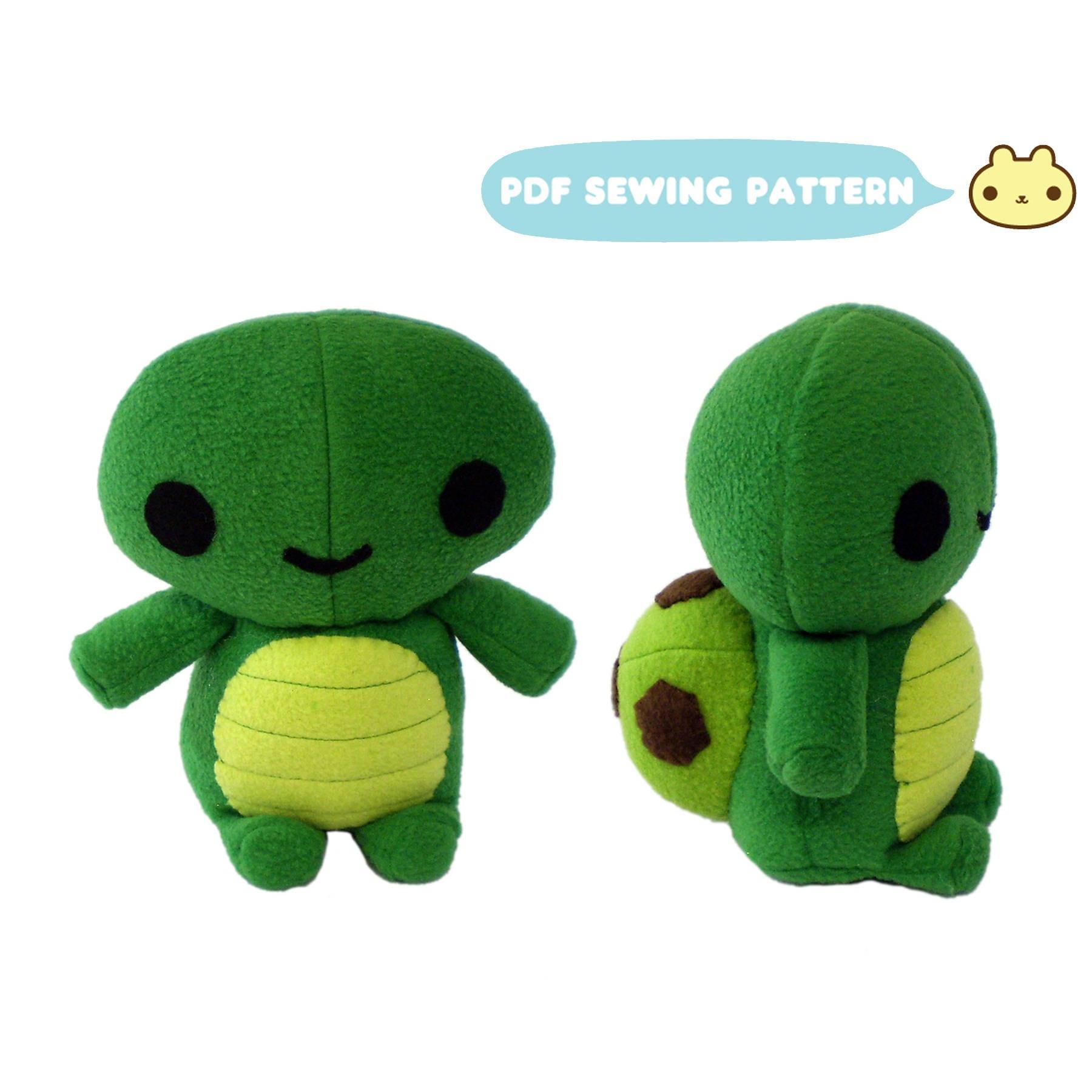 Plush Sewing Pattern Plush Turtle Pattern Turtle Instant Etsy
