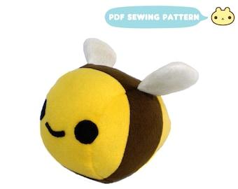 Bee Sewing Pattern, Bee Plush Sewing Pattern, Plush Bumble Bee, Stuffed Animal PDF, Download Sewing Pattern, Bee Sewing, Bumble Bee Sewing