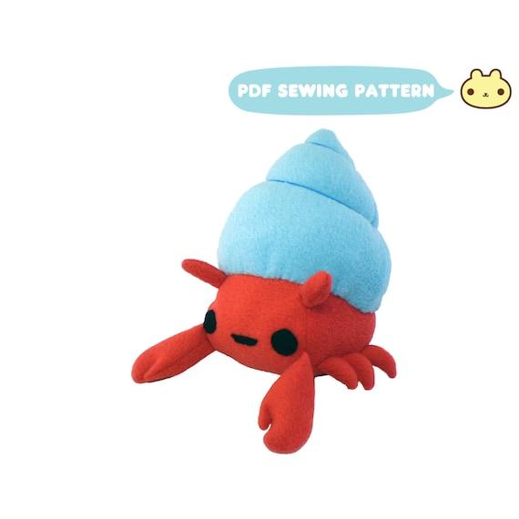 Sewing Patterns Crab Plush Toy Hermit Crab Pattern Stuffed   Etsy