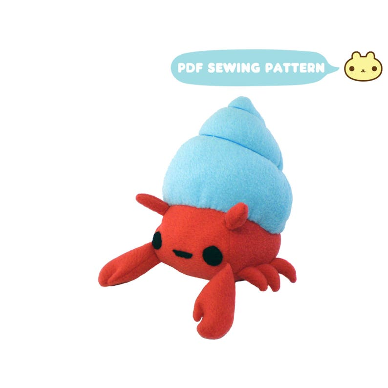 Sewing Patterns Crab Plush Toy  Hermit Crab Pattern Stuffed image 0