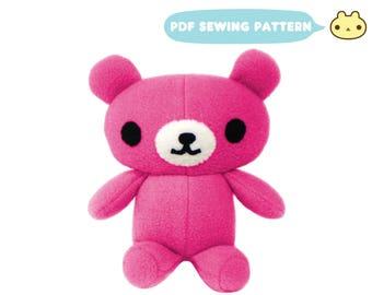 Baby Sewing Pattern, Teddy Bear Sewing Pattern, Stuffed Bear pdf, Teddy Bear Pattern, PDF Teddy Bear Toy, DIY Stuffed Teddy, Baby Bear Toy