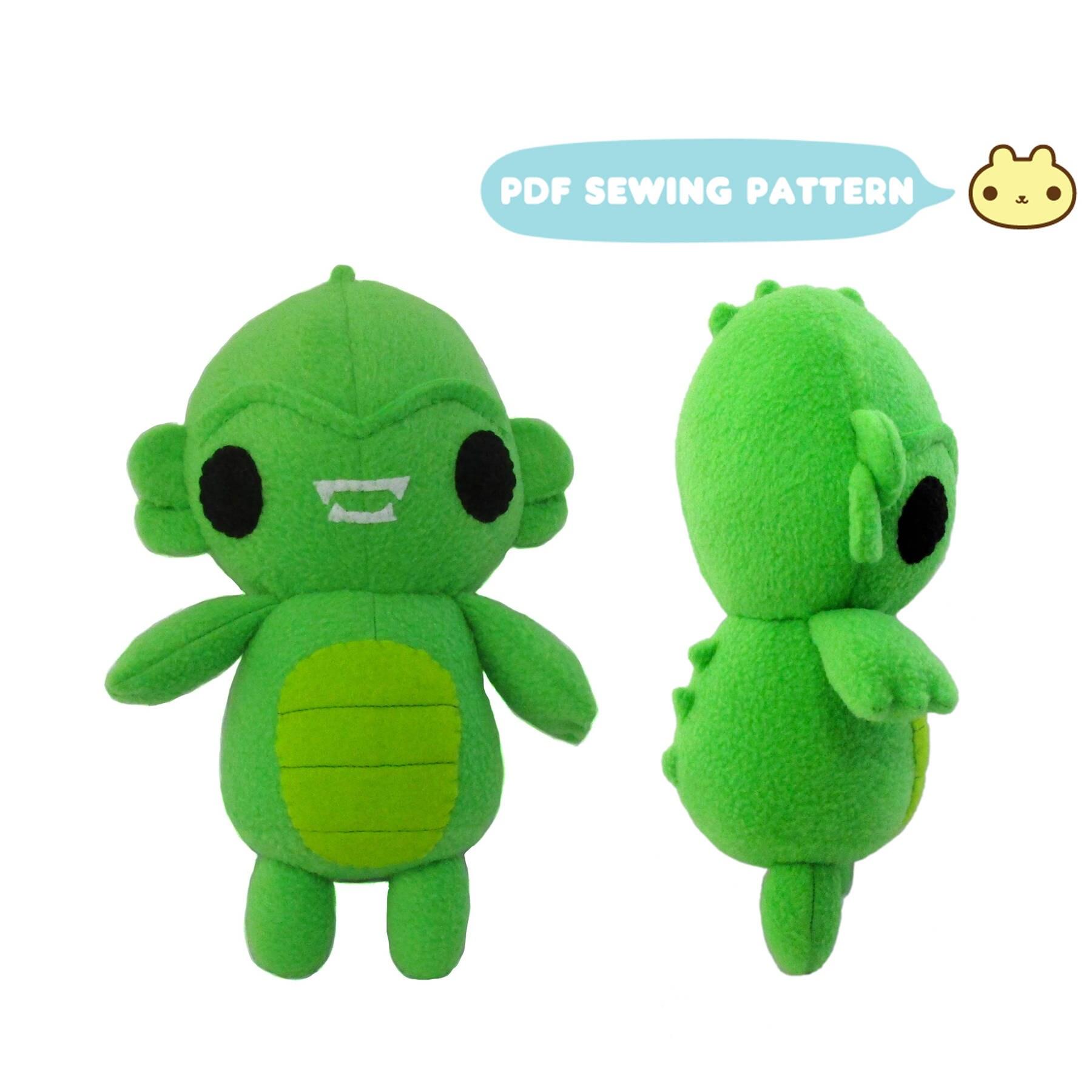 Monster Sewing Pattern Swamp Monster Pattern Plush Monster