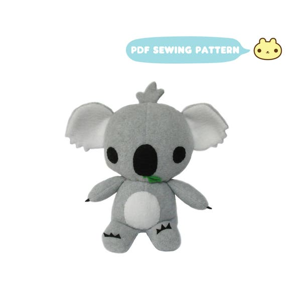 Koala Sewing Patterns Koala Bear Toy Koala Stuffed Animal Etsy