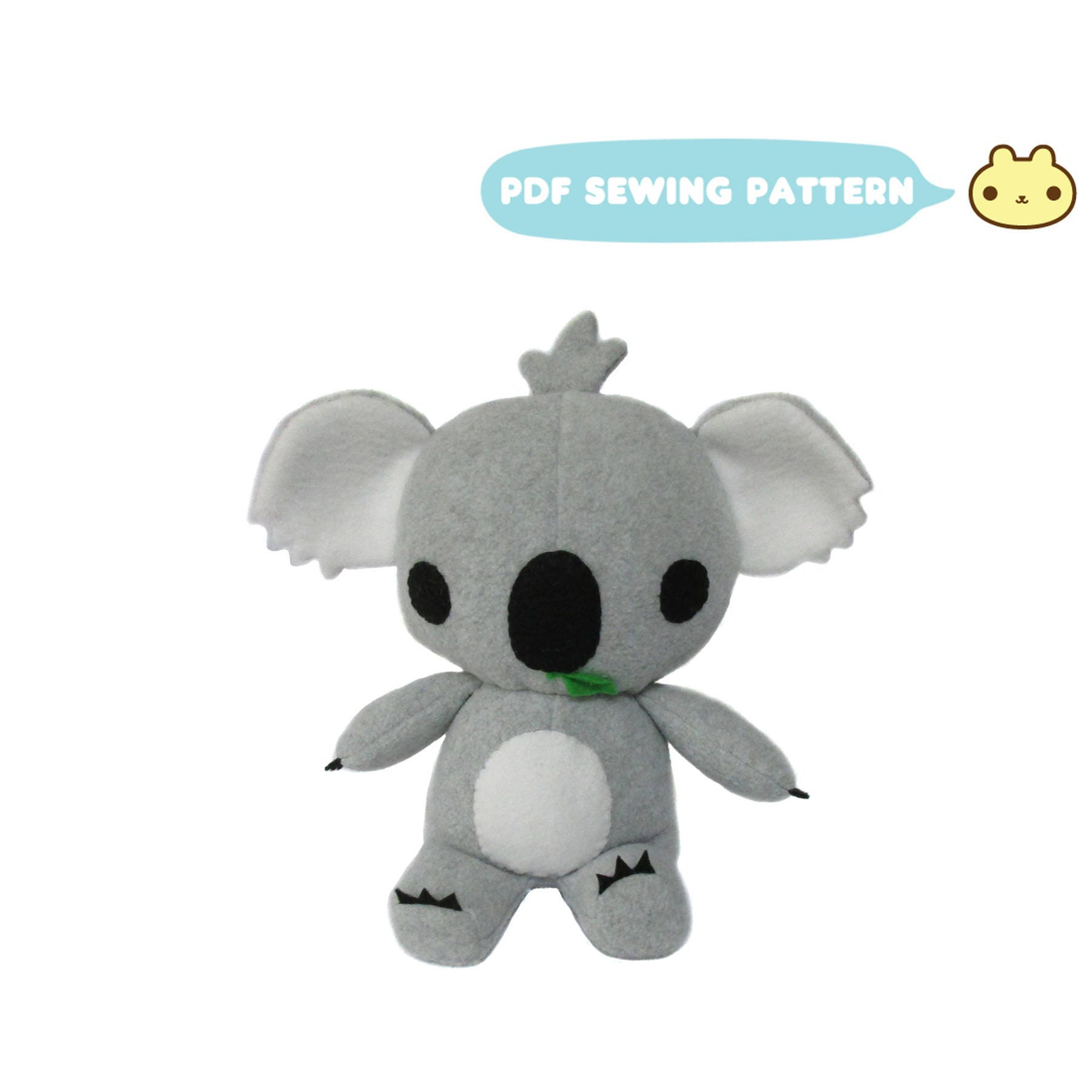 Koala Sewing Patterns Koala Bear Toy Koala Stuffed Animal Etsy
