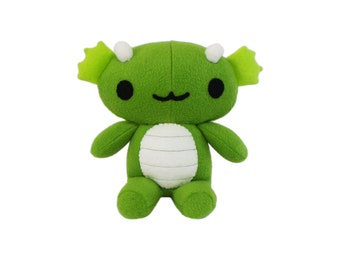 Green Dragon Plush Toy, Chibi Dragon, Plush Plushie, Stuffed Toy Animal, Monster Plush, Stuffed Monster, Green Dragon Toy, Cute Dragon Toy
