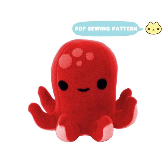 Plush Octopus Sewing Pattern DIY Sewing Pattern Plush   Etsy