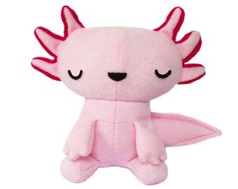 Axolotl Stuffed Plush Toy, Mexican Walking Fish Toy, Chibit Axolotl Toy, Axolotl Softie Plush, Plush Axolotl Toy, Pink Stuffed Animal Toy