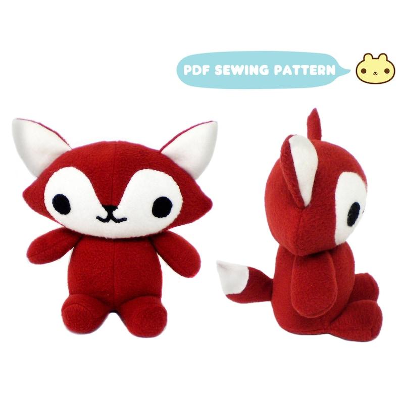 Fox Plush Pattern Toy Animal Pattern Fox Sewing Pattern image 0