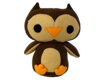 Plush Owl Sewing Pattern - PDF
