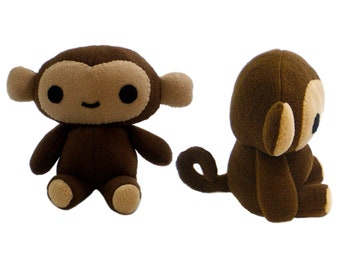 Monkey Sewing Pattern - Instant Download