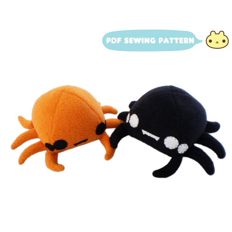 Holloween Gifts for Kids Spider Sewing Pattern Spider Plush image 0