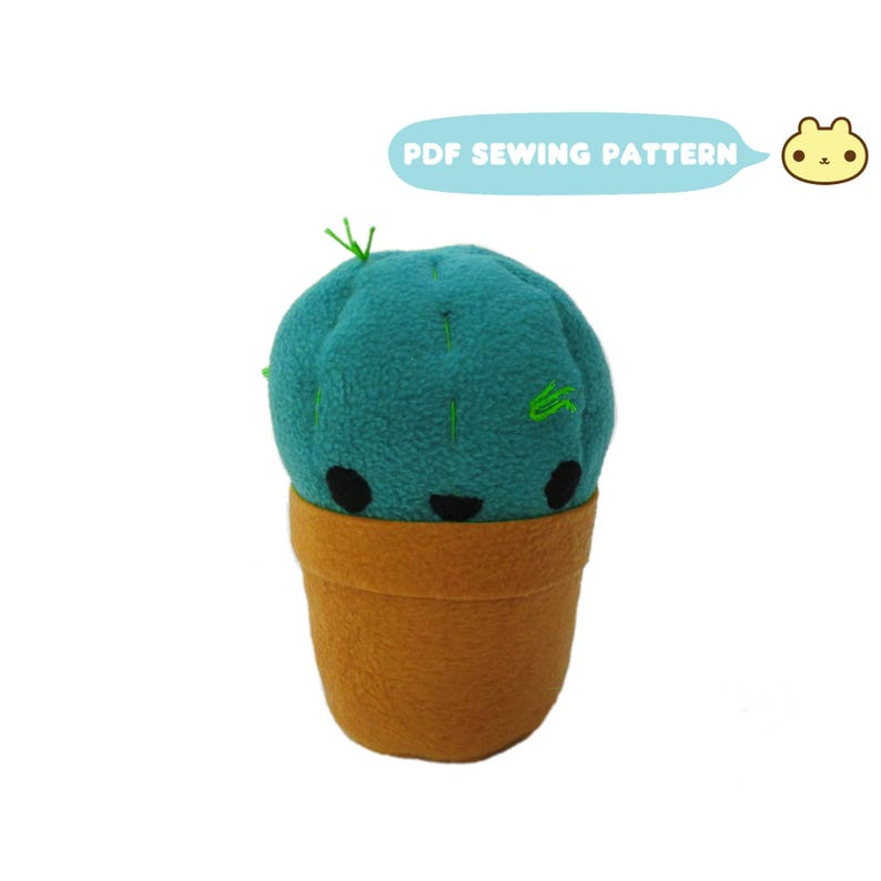 Succulent Pattern DIY Cactus Easy Sewing Pattern Plant image 0