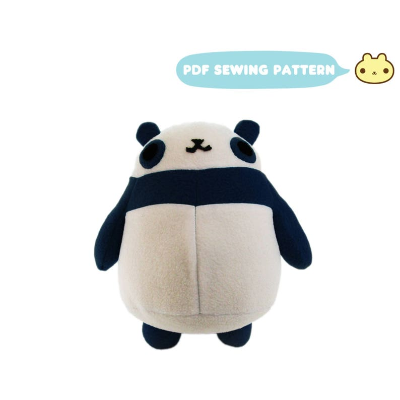Panda Sewing Pattern Stuffed Pattern Panda Pattern Sewing image 0