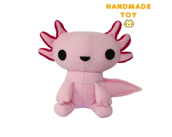 Axolotl Plush Toy, Plush Mexican Walking Fish, Kawaii Toy, Axolotl Stuffed Plush, Plush Axolotl, Stuffed Animal, Pink Toy