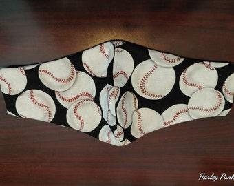 Child Olson Mask-Baseballs on Black
