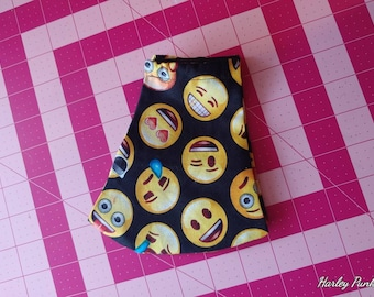 Emoji Smiley Faces Print Olson Face Mask: Ear Loops OR Tie Straps. Made to Order