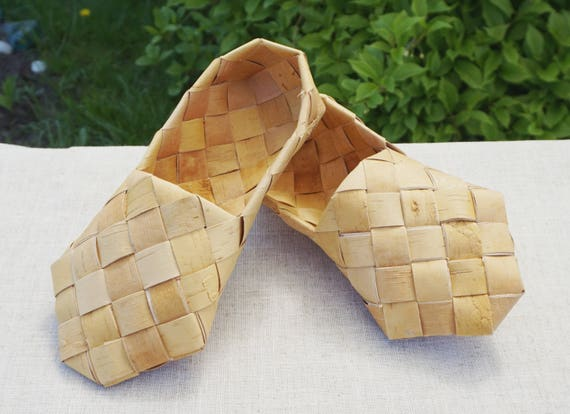 Bast Schuhe, Lapti Schuhe, Wald Stil, russische Schuhe, Massage Hausschuhe, russische Kleidung, Volks Bast Schuhe, Souvenir Schuhe, russische