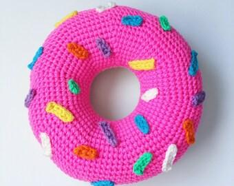 Haak donut kussen met hagelslag etsy