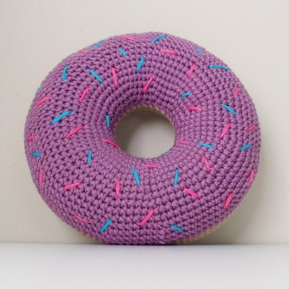 Gehäkelte Donut Kissen Mit Streuseln Etsy