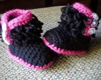Baby Booties, Crochet Baby booties, Newborn booties, 0-3 mo, 3-6 mo, 6-9 mo, Pick your color, boy booties, girl booties