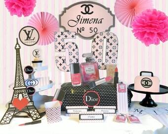 fashion printable, luxury printables, luxury decoration party paris
