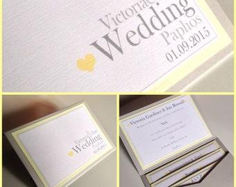 Plain & Simple Pocketfold Wedding Invitations | Love Heart | Contemporary