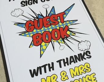 Pop Art | Comic Strip | Wedding Signage | Photobooth | Guest Book | Post Box