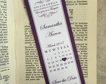 Wedding Save the Date Bookmarks