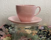 Lovely Vintage 30s Johnson Bros. Cup and Saucer, Rose Cloud Made in England