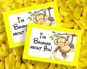 I'm Bananas About You Printable Bag Topper